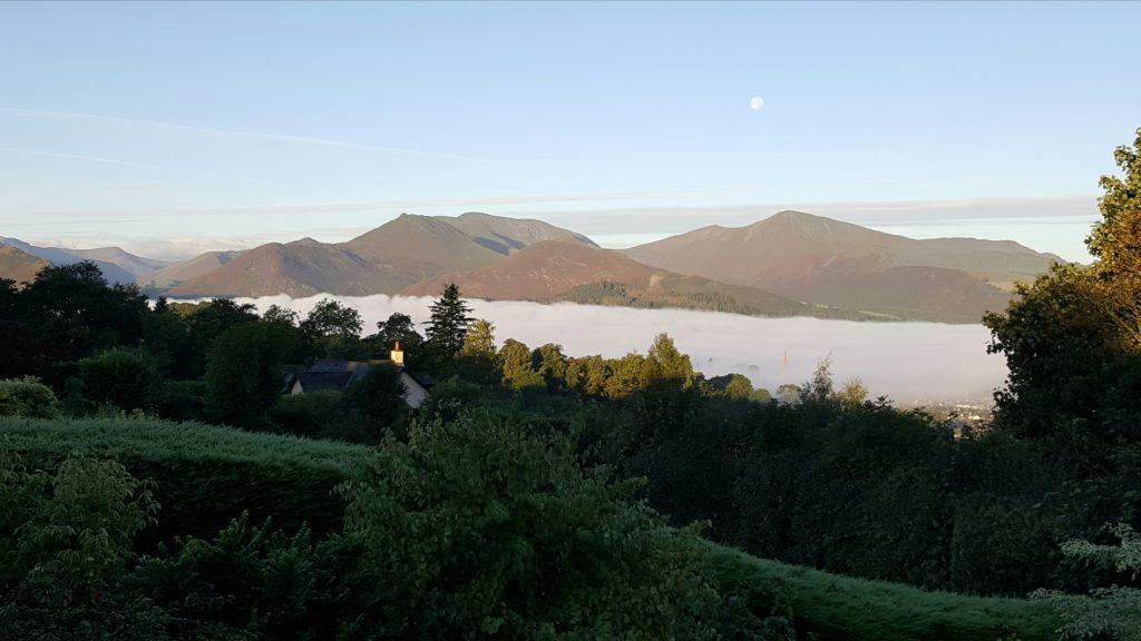Autumn cloud inversion over Keswick, Lake District