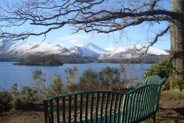 winter scene over Derwentwater, Lake District