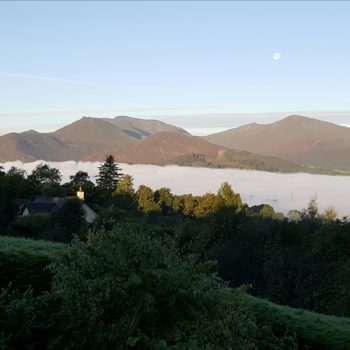 Autumn cloud inversion over Keswick, Lake District