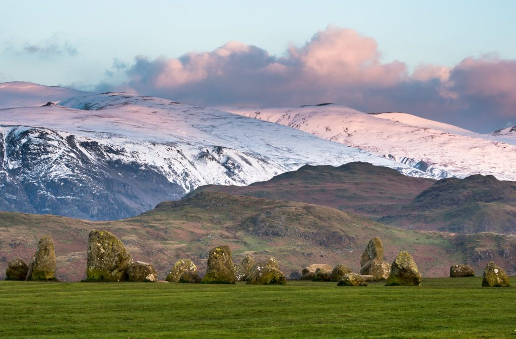 Snow Scene with Castlerigg Stone Circle