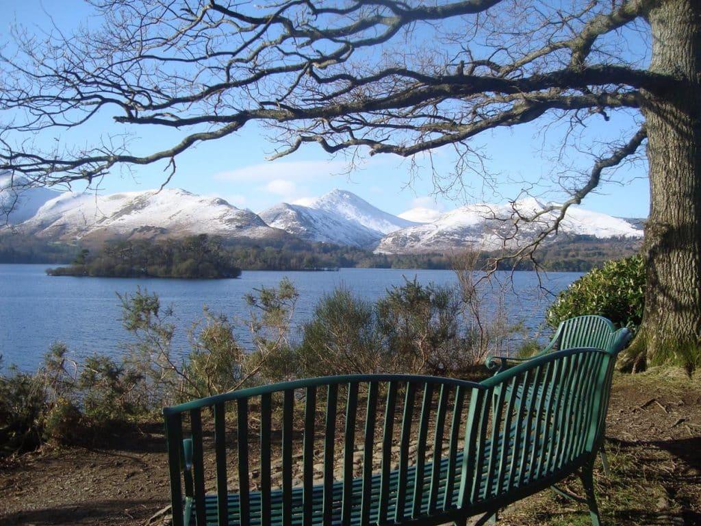 winter scene over Derwentwater, Lake District