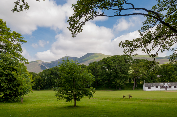 View from 5 Greta Side Court keswick Skiddaw and Fitz Park